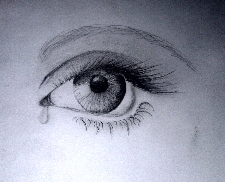 Sad Eye By EmpathicMidnight
