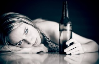 Young-girl-with-Beer-Bottle